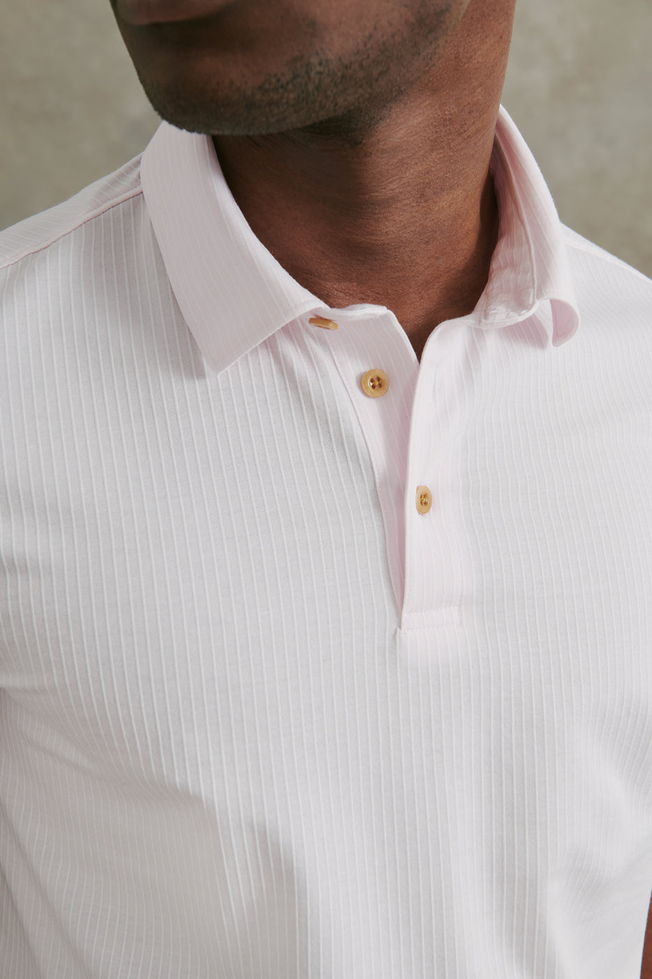 Load image into Gallery viewer, Seabrook Stripe Polo in Pink