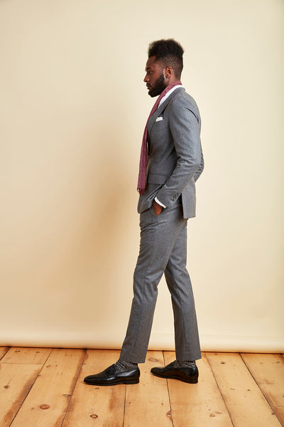 Load image into Gallery viewer, Walden Wool Suit Pant in Heather Grey
