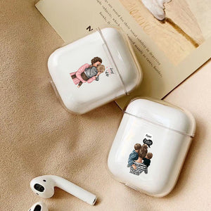Case For Apple airpods case Cute Mom Baby Girls Wireless Bluetooth Earphone Case For Airpods Headphone Hard Protective Case