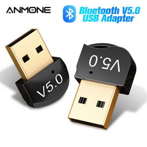 ANMONE Wireless USB Bluetooth Adapter for Computer Laptop Bluetooth Dongle USB Bluetooth 5.0 Audio Receiver Adapter Transmitter