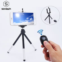 Load image into Gallery viewer, Bluetooth Flexible Universal Portable Aluminum Phone Holder Clip Selfie Tripod Stand For Smartphone For Camera DSLR Mount