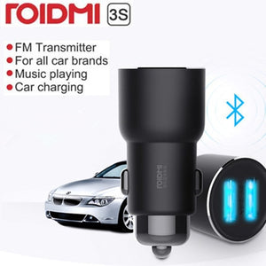 ROIDMI 3S Bluetooth 5V 3.4A Car Charger Music Player FM Smart APP for iPhone and Android Smart Control MP3 Player