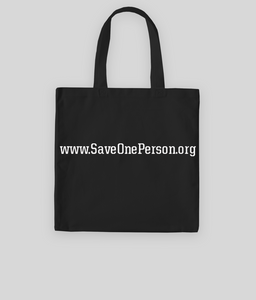 SAVE ONE PERSON TOTE BAG