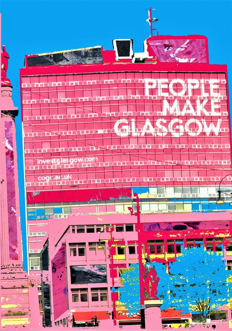 People Make Glasgow print - available in A4 or A5 size