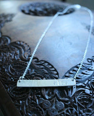 'Alba' sterling silver necklace