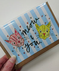 Meow and you card