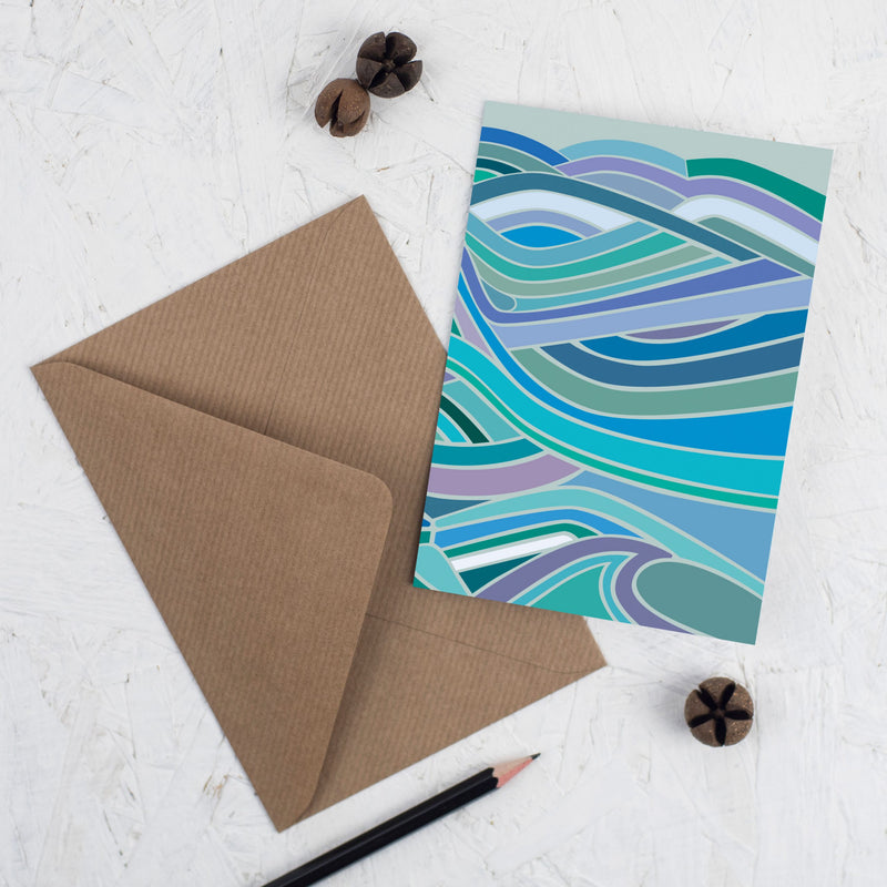 Illustrated sea design card