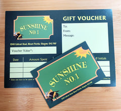 Sunshine No.1 Gift Card - can be spent online or in store!