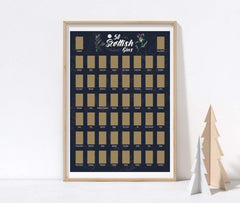 Gin poster - A3 Scratch Off Scottish Gin Poster