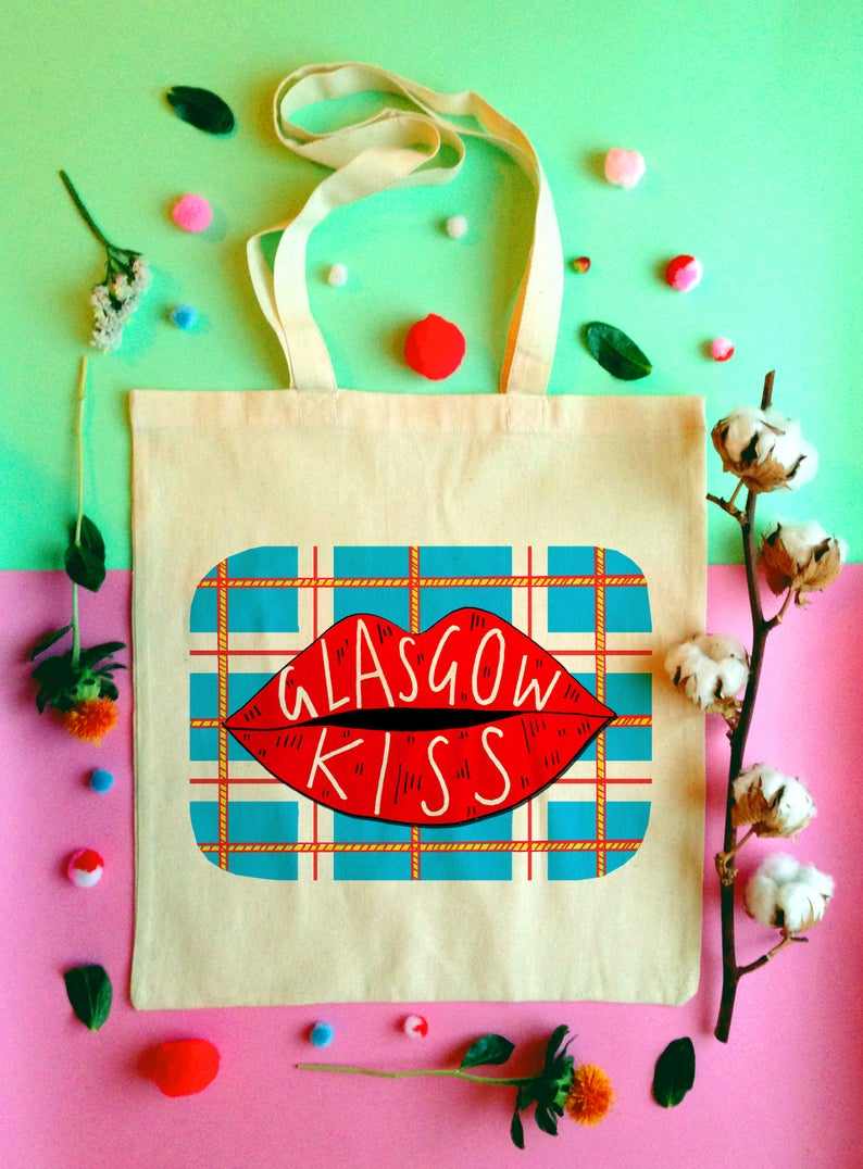 Glasgow Kiss tote bag