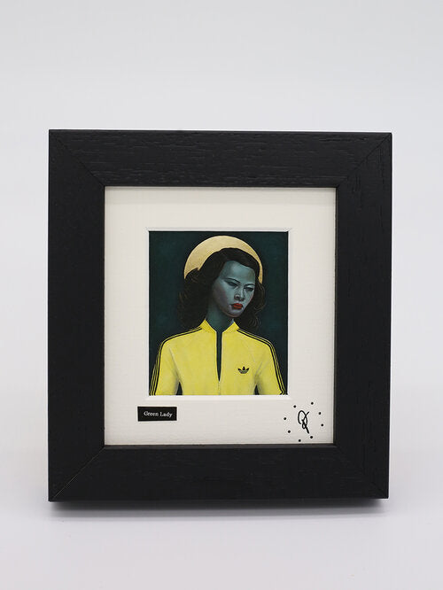 Ross Muir mini framed print - 'Green Lady'
