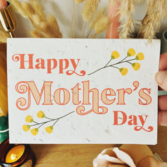 Plantable card - Happy Mother's Day (2 designs available)