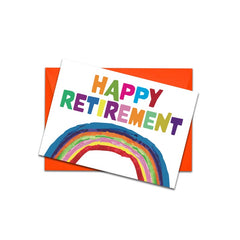 Happy retirement rainbow card