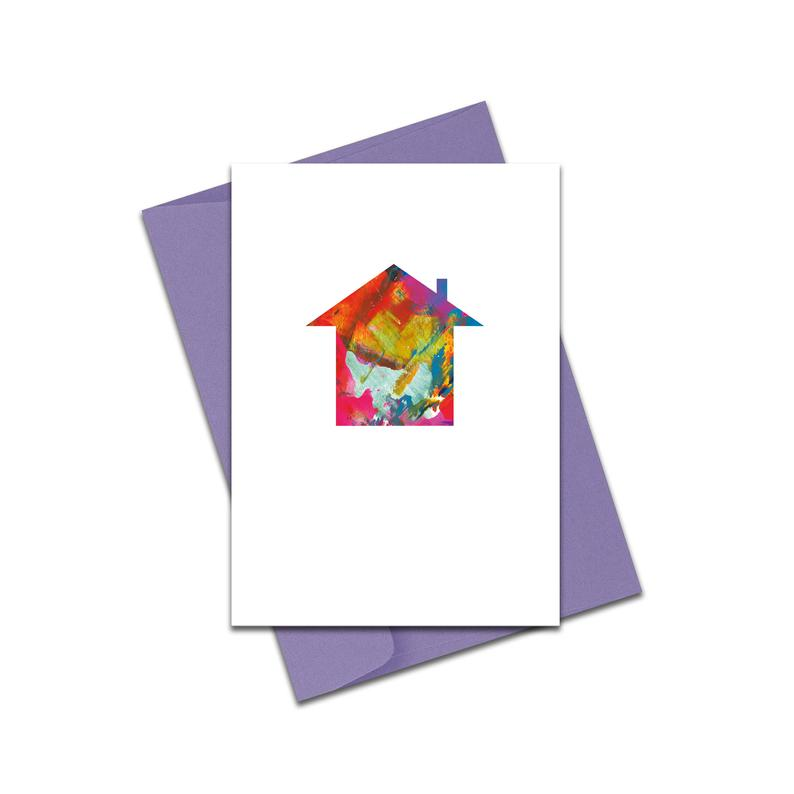 New home abstract house card