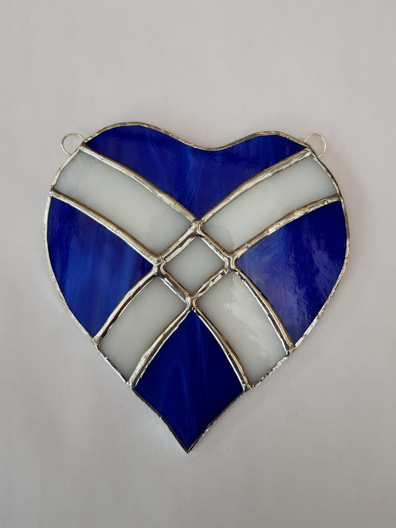 Stained glass Saltire heart