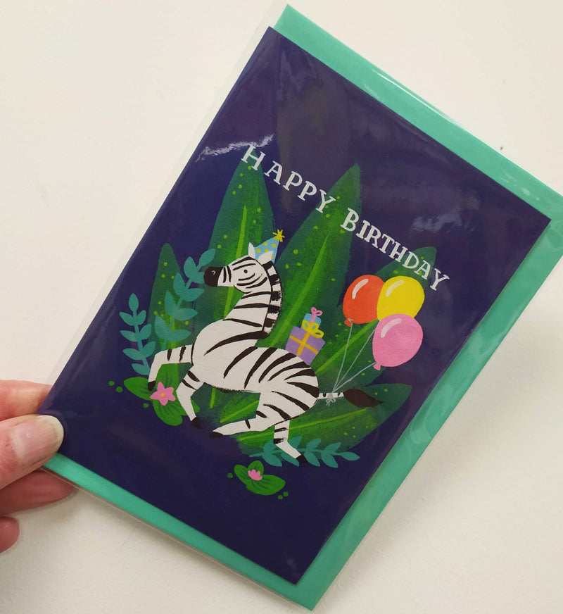 Happy birthday - zebra card