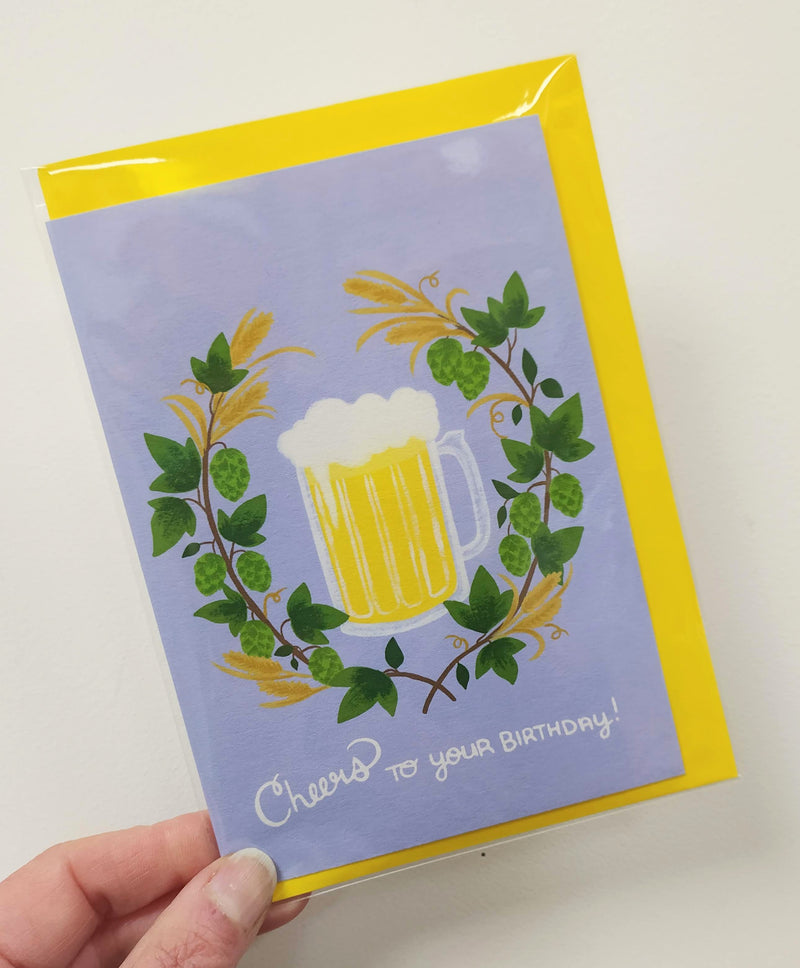 Cheers to your birthday/pint of beer card