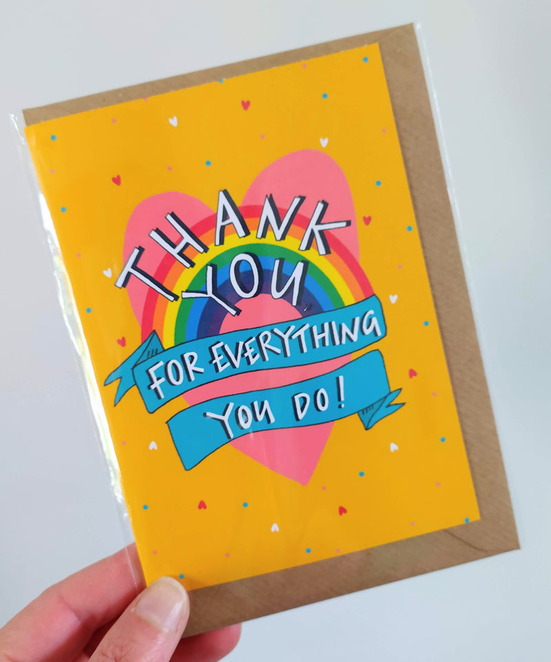 Thank you for everything you do card