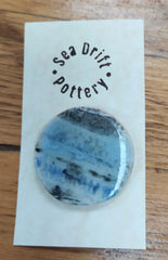 Sea Drift Pottery ceramic brooch