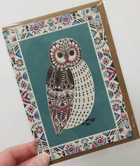 Illustrated card - owl
