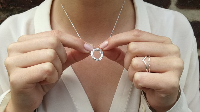 Necklace – Sterling Silver Russian ring (available in 2 sizes)