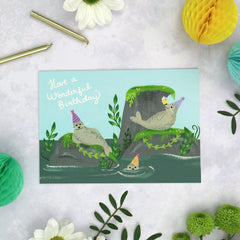 Have a wonderful birthday - seals card
