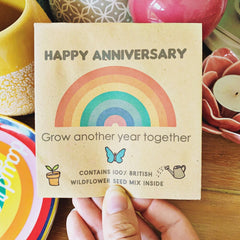 Wild flower seed packet - Happy Anniversary