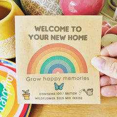 Wild flower seed packet - Welcome to your new home