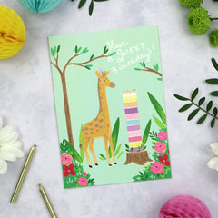 Have a sweet birthday - giraffe card