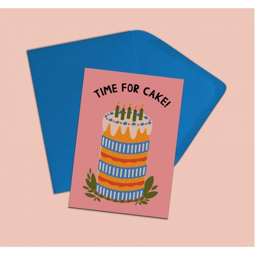 Time for cake card