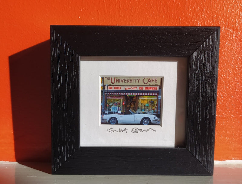 Mini framed print - University Cafe