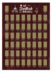 Whisky poster - A3 Scratch Off Scottish Whiskies Poster