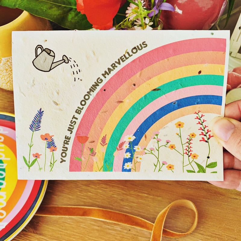 Plantable card - You're just blooming marvellous