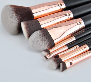ROSE GOLD MAKEUP BRUSHES 15 PCS