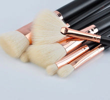 Load image into Gallery viewer, ROSE GOLD MAKEUP BRUSHES 15 PCS