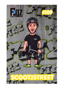 Sticker Figz scoot 2 street