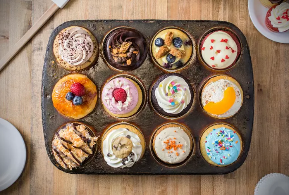 *Best Seller* 12 Assorted Centerfill Cupcakes