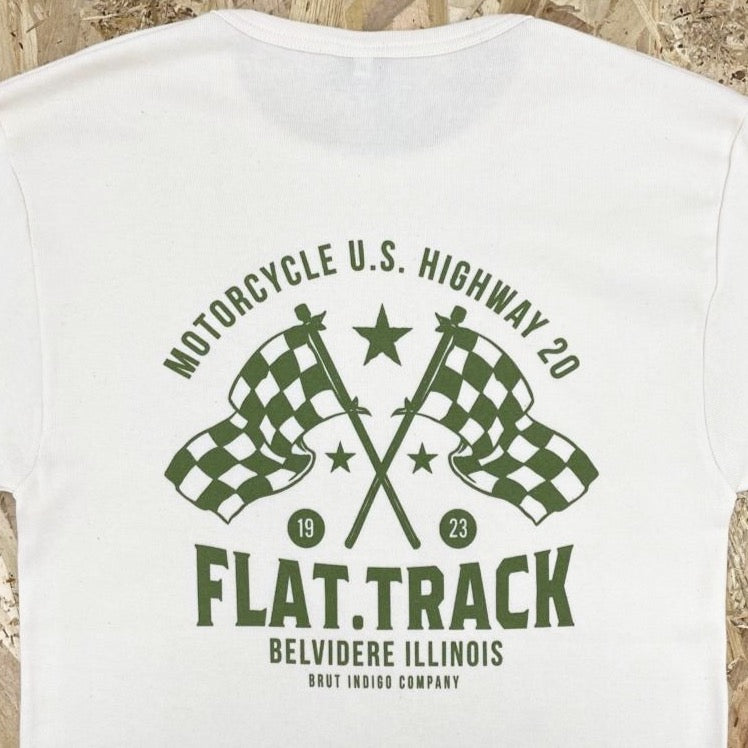 "T-shirt ""Flat Track Illinois"" par Brut Indigo Co."