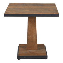 Load image into Gallery viewer, Industrial Reclaimed Pine Square Table - Metal Edging