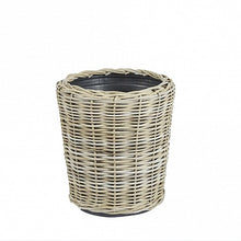 Load image into Gallery viewer, Round Wicker Planter Baskets - plastic inners