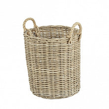 Load image into Gallery viewer, Round Wicker Baskets with Rope Handles