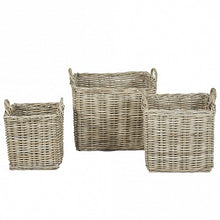 Load image into Gallery viewer, Square Wicker Baskets with Wicker Handle