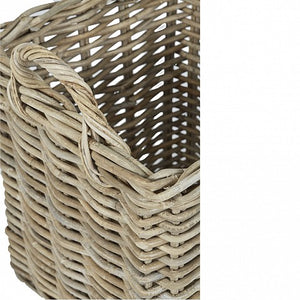 Square Wicker Baskets with Wicker Handle