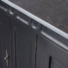 Load image into Gallery viewer, French Style Black Painted Sideboard - Stone Top