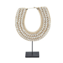 Load image into Gallery viewer, Cowry Shell Collar Necklace on Stand