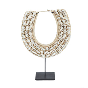 Cowry Shell Collar Necklace on Stand
