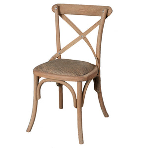 Bentwood Oak Dining Chair - Rattan Base