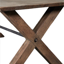 Load image into Gallery viewer, Industrial Style Oak Dining Table - X Leg