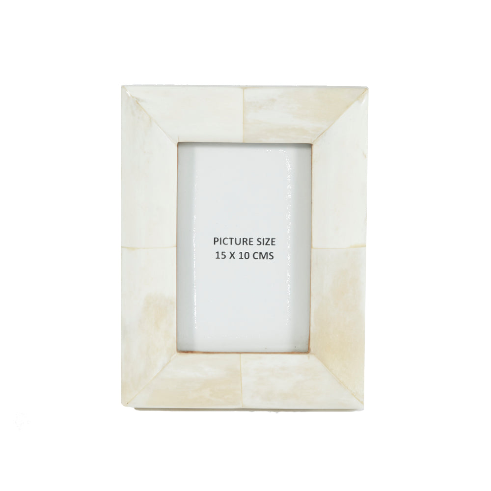 Bone Photo Frame Wide Edge - 15 x 10 cms