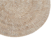 Load image into Gallery viewer, Round White Washed Rattan Placemat - Tight Weave